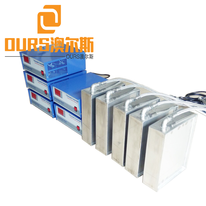 25KHZ/40KHZ/80KHZ  Multi-frequency Ultrasonic Cleaning Transducer Submersible Box For Parts Cleaning