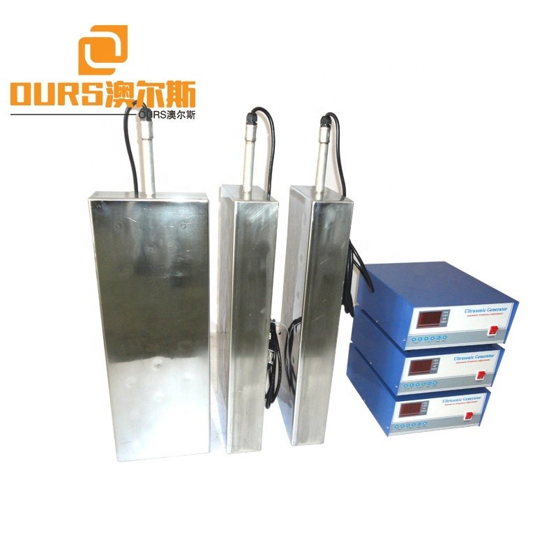 316 Stainless Steel Material Ultrasonic Immersible Transducer Industrial Waterproof Ultrasound Transducer Plate 28K 600W