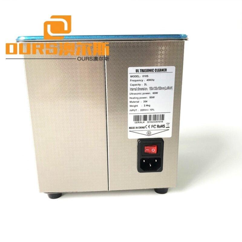 150*135*100MM Washing Machine 60W Ultrasonic Cleaner Volume 2L Warranty 1 Year