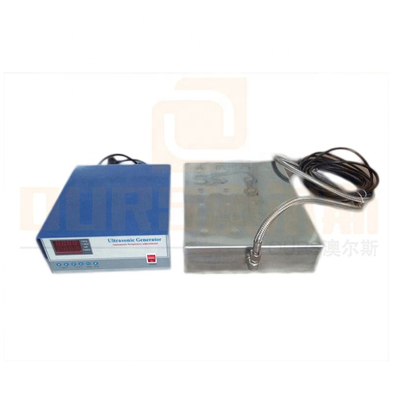 130K High Frequency Ultrasonic Submersible Cleaning Transducer And Ultrasonic Generator For Metal Parts Industry Cleaner