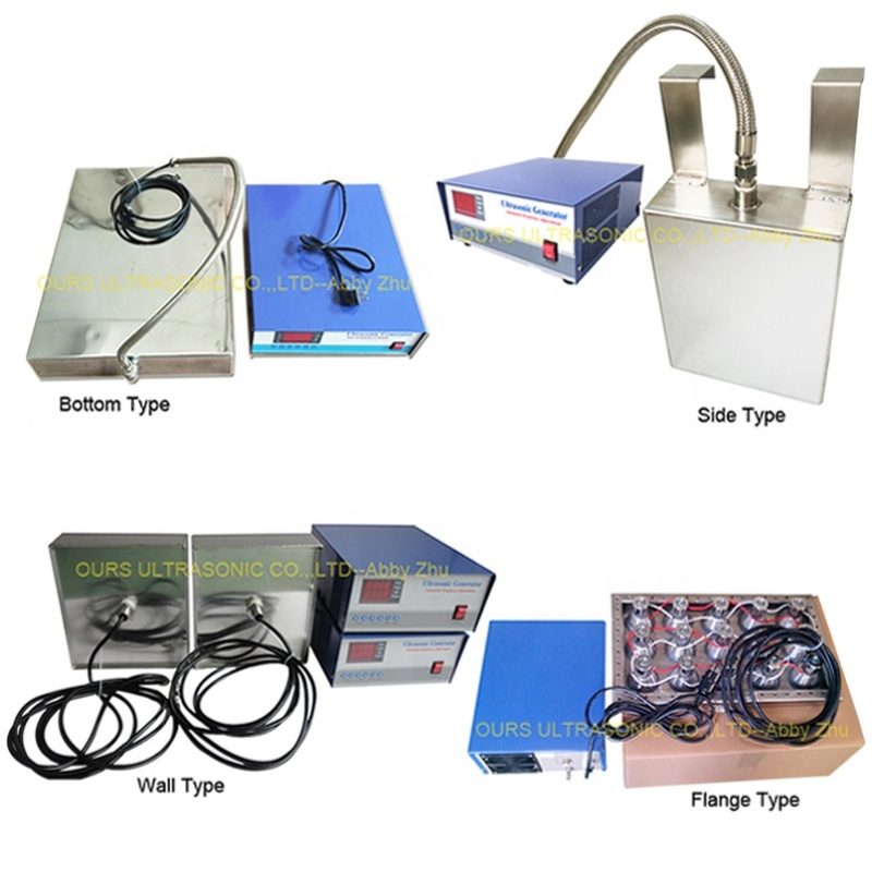 Immersible Ultrasonic Transducer Plate 300W-7000W Has Wall /Flange/Bottom/Side Type