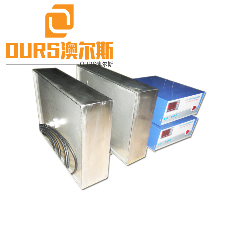 1500W Immersible Stainless Steel Trasducer Plate 40khz Immersible Vibration Board For Cleaning Parts Box