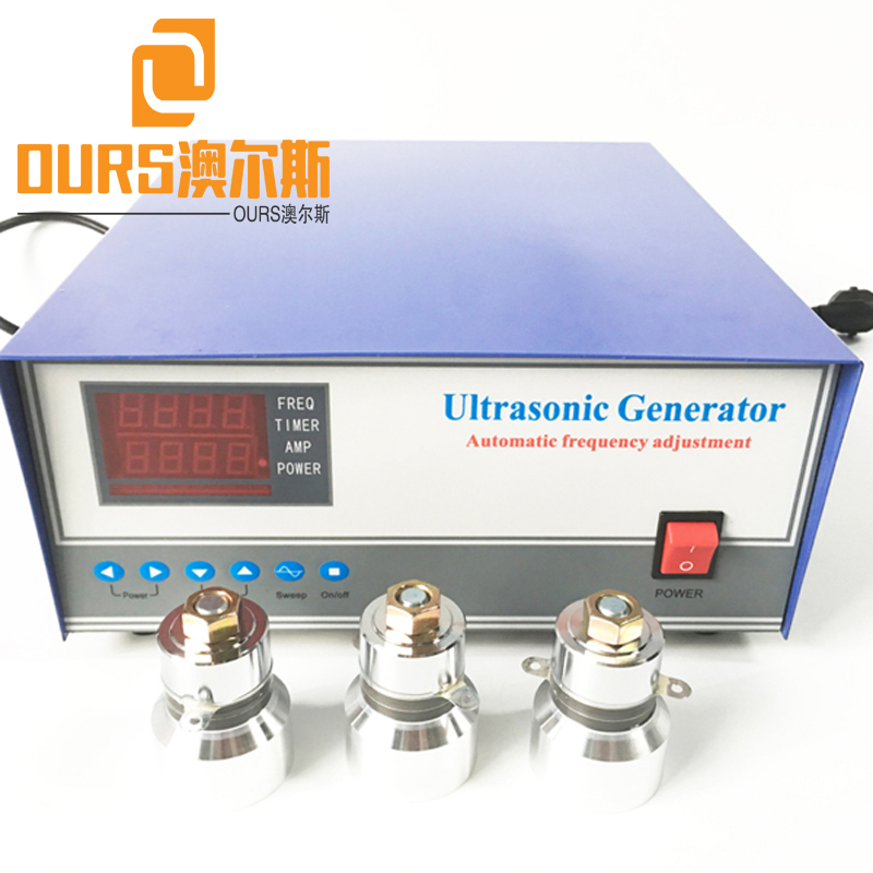 1800W 28KHZ/40KHZ Automatic Ultrasonic Transducer With Generator For Cleaning Tank