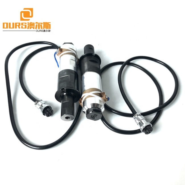 Ultrasonic Welding Vibration Power Transducer 20KHZ 2000W PZT8 Surgical Nonwoven Mask Making Machine Converter
