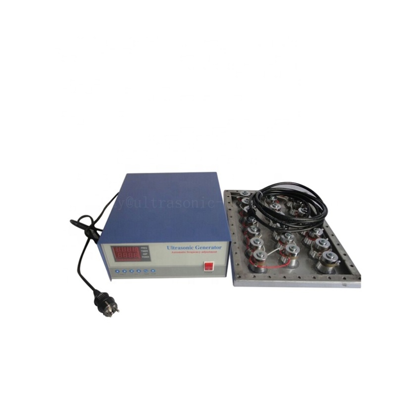 Immersible Ultrasonic Cleaning Plate Dual Frequency Ultrasonic Submersible Transducer Pack With 28K/40K Digital Generator Box