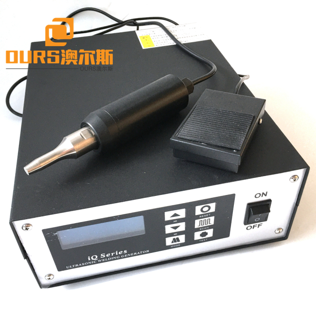 28khz or 35khz Small Ultrasonic Spot Welding Generator and Transducer with Titanium Horn Use For Textile Inserts Rear Panels