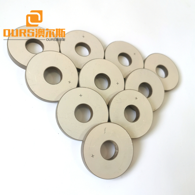 50*17*6.5mm Lead Zirconate Titanate Material Piezoelectric Ceramic Rings Used For Signal Processing