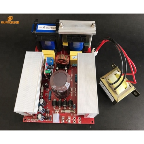 28K Power supply Ultrasonic generator PCB and piezo ceramic transducer for ultrasonic cleaning