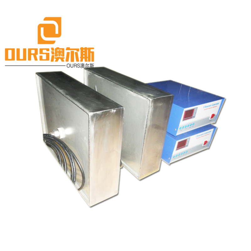 1500W High Vibration Power Submersible Transducer Box Ultrasonic With Hooks For Hanging It Into The Ultrasonic Tank