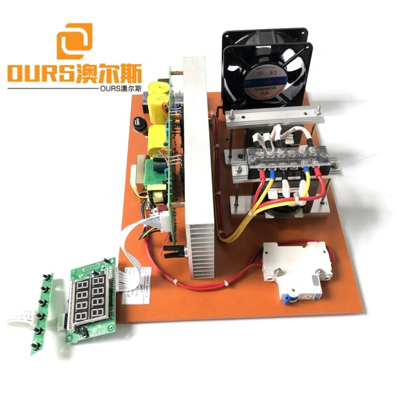 Industrial Washig Machine Power Ultrasonic PCB Generator 1500W Big Power Frequency And Power Adjustable For Transducer Washer