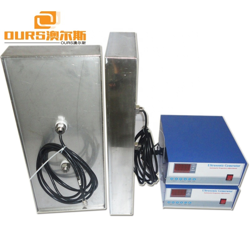 SS316 Submersible Ultrasonic Transducer Pack With Generator For Homemade Ultrasonic Parts Cleaner Solution