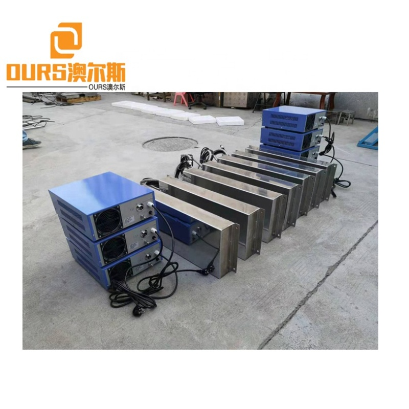 Installed In Cleaner Tank Ultrasonic Transducer Immersible Plate For Cylinder Engine Block Parts Vibration Pulse Wave Cleaning