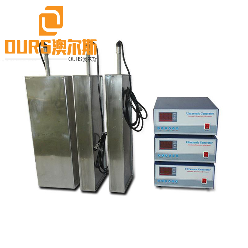 60khz High Frequency 1200W High Intensity Efficiency Ultrasonic Transducers With Vibrating Plate For Industrial Cleaning