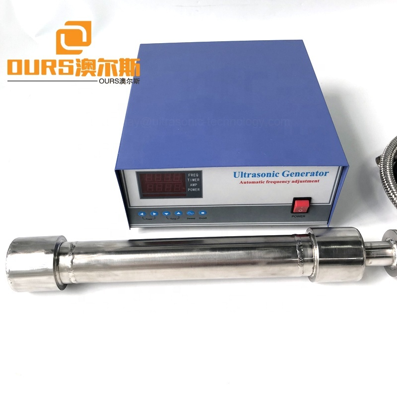 Liquid Processing Tank Components Chemical Industry Ultrasound Tubular Underwater Transducer 1000W  Tubular Ultra Reactor