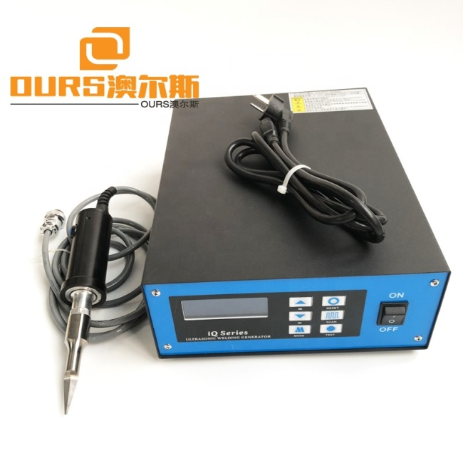 1000W 35K Power Supply For PP Sheet Cutting  Machine Ultrasonic Welding generator With Transducer And Tool Head