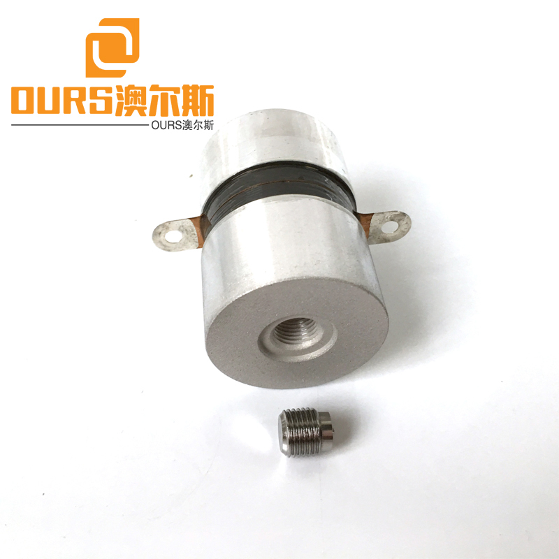 135KHZ 60W PZT4 High Frequency Ultrasonic Transducer Parts Cleaner For Cleaning Car Engine