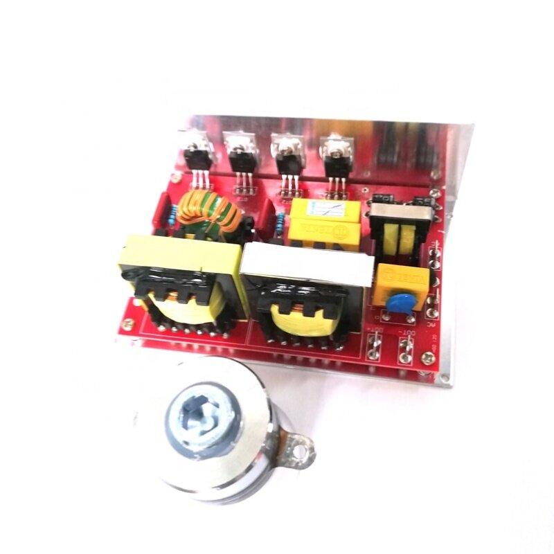 60W Ultrasonic Generator Small PCB 110V 40KHz Can DriveTwo 40KHz Piezoceramic Ultrasonic Cleaning Transducer