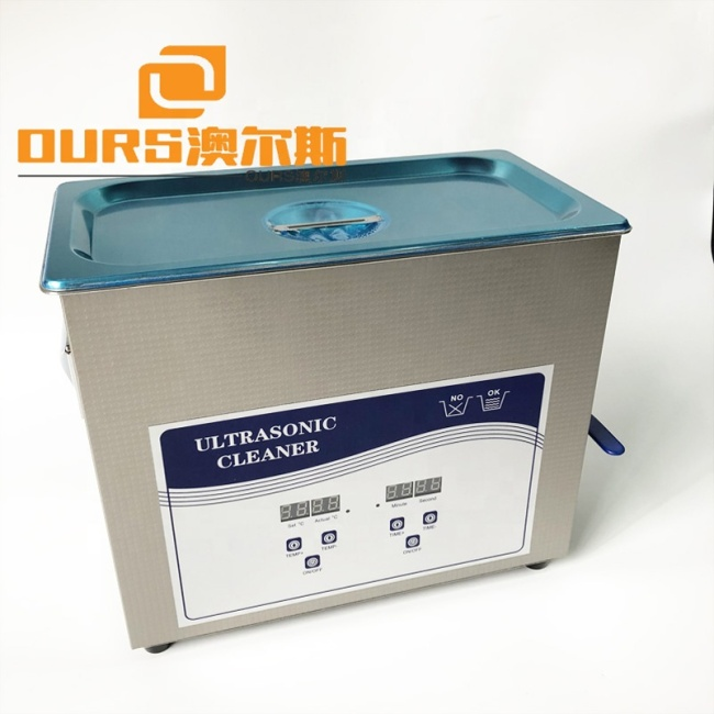 Screw Parts/Metal Parts  Small Size Ultrasonic Cleaning Machine 6L 120W Transducer Ultrasonic Cleaner Tank And SUS Basket