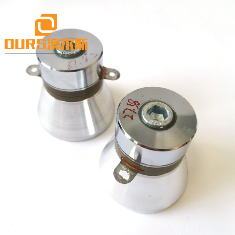 Low Frequency 28khz Acoustic Components PZT8 Piezoelectric Ultrasonic Transducer 100w For Laboratory