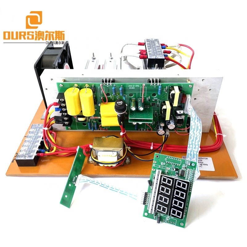 Factory Hot Sales 1800W Vibration Power Ultrasonic Cleaning PCB Generator Used On Driving Korean Vegetable Fruits Cleaner