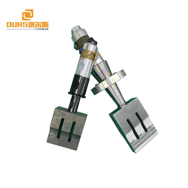 15khz ultrasonic welding transducer horn booster Ultrasonic Surgical Nonwoven Face Mask Making Machine/Sealing Device