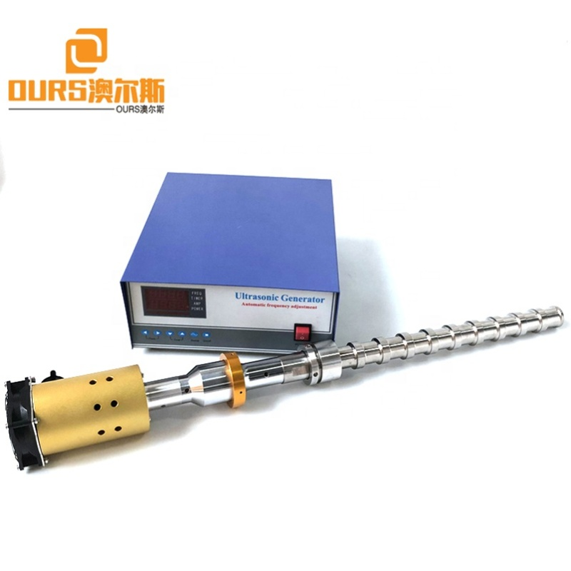 1000W Immersible Ultrasonic Titanium Alloy Tube Transducer Industry Reactor Kits 20KH With Ultrasonic Cleaning Generator