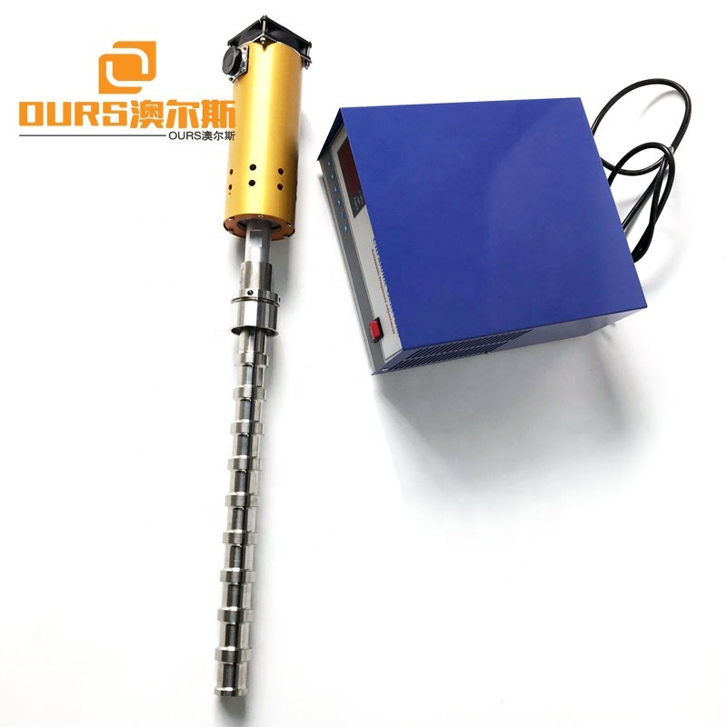2000W Ultrasonic Vibrating Rod And Generator 20KHz Titanium Alloy Ultrasonic Probe For Ultrasonic Biodiesel Reactor
