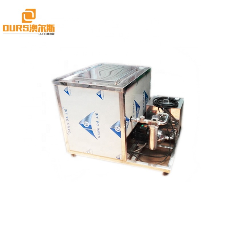 Large Industry Ultrasonic Transducer Cleaner With Filtering Circulation Function And Basket  As Engine Parts Oil Cleaner