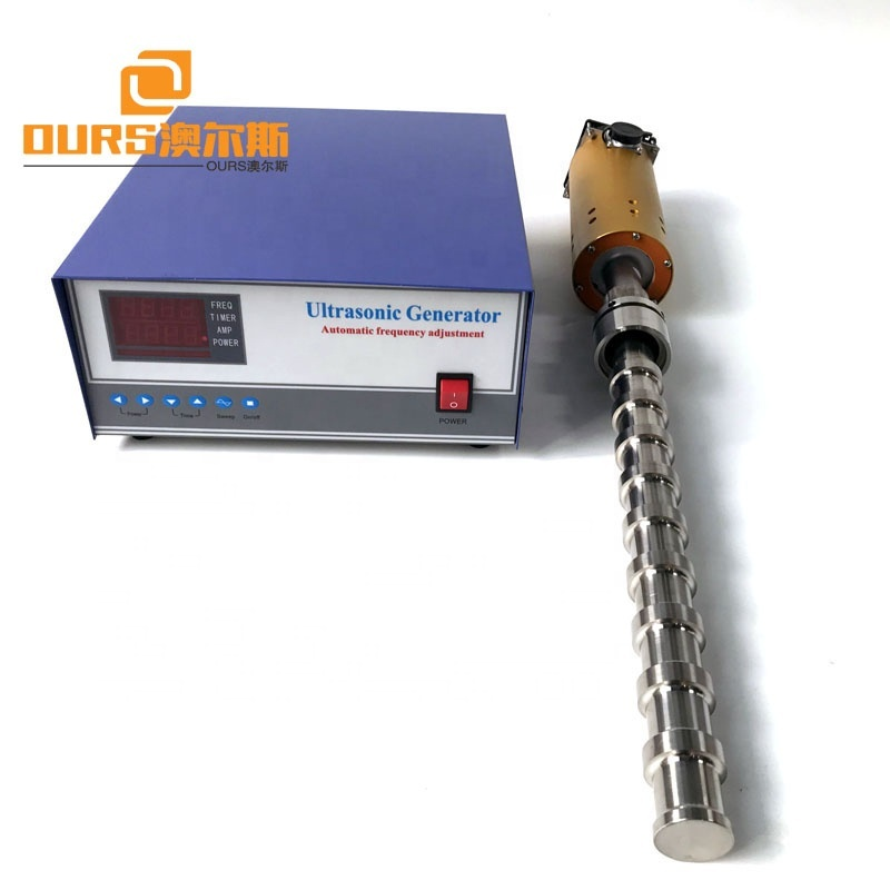 20KHz Ultrasonic Tubular Transducer Ultrasonic Reactor 2000W Biodiesel Ultrasonic Transducer With Probe And Generator