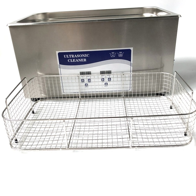 Factory Wholesale Customized Ultrasonic Wave Washer 22L With Free Stainless Steel Basket For Fruits And Vegetables Washing