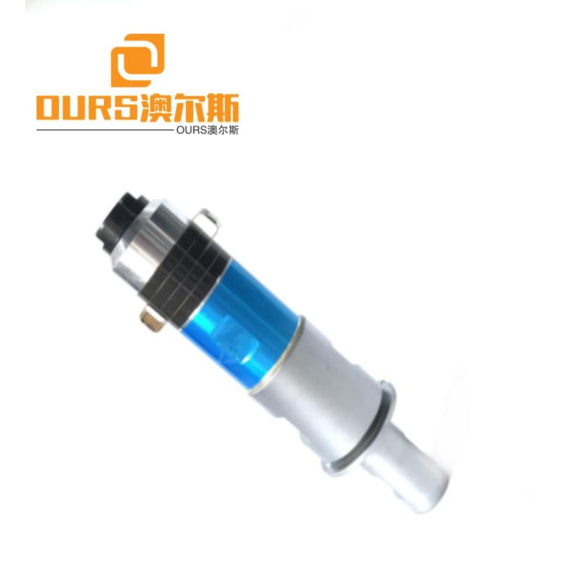 2000w 20khz Ultrasonic welding Transducer With Titanium Booster  For zipper plastic bag machine