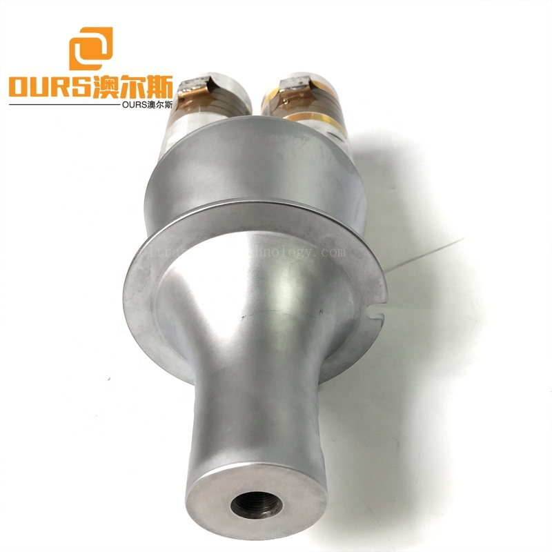 Food Cutting/Plastic Welding Piezoelectric Ultrasonic Transducer With Booster 4200W Ultrasound Frequency Signal Welder Sensor