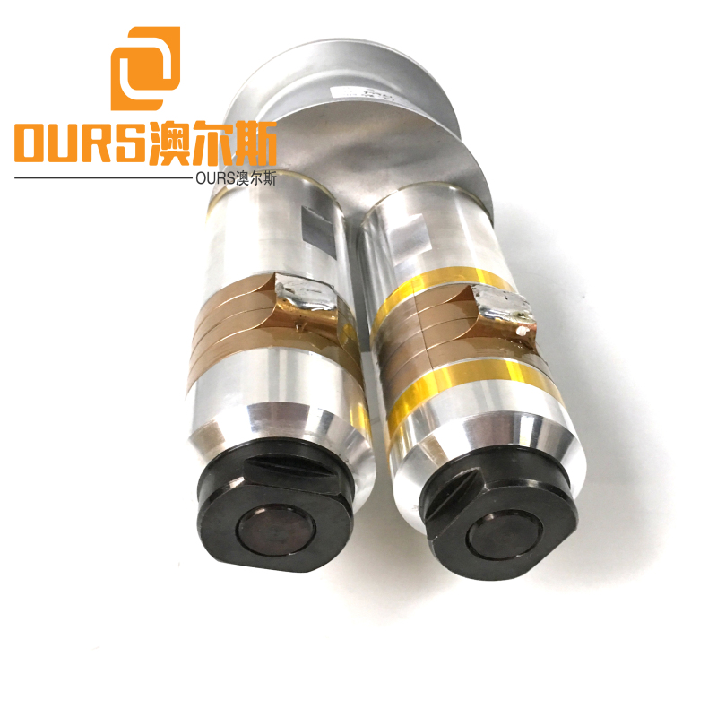 3200W15khz Ultrasonic High Power Piezo Transducer With Booster For Pyramid Nylon Tea Bag Packing Machine