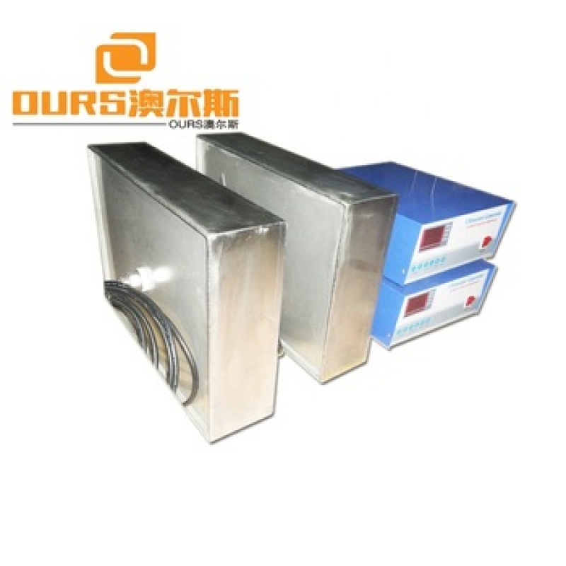 135KHZ 1000W High Frequency Immersible Ultrasonic Vibrators Box And Generator For Industrial Parts Cleaning