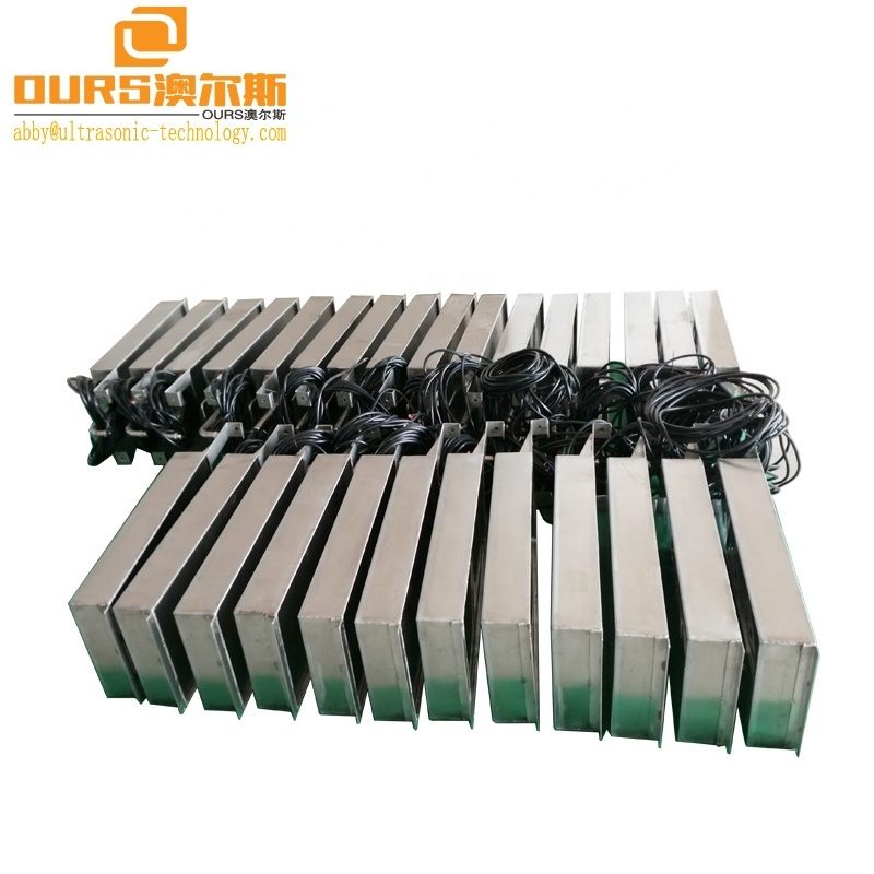 316L Stainless Steel Immersion Transducer Boxes 40KHz Submersible Transducer Pack For Ultrasonic Cleaning Machine