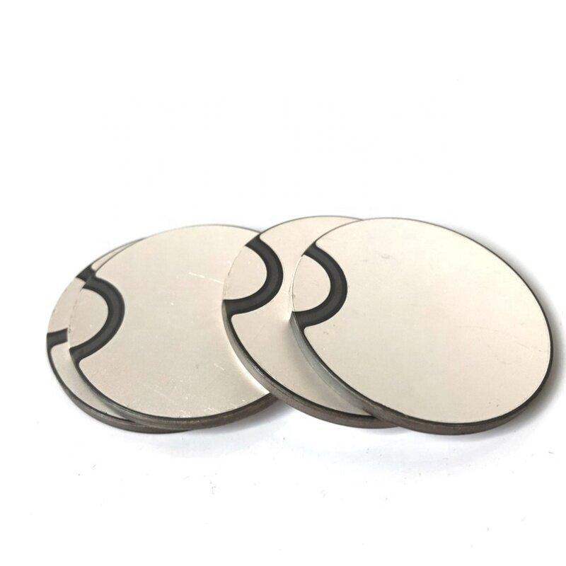 Factory Wholesale Customized Piezoelectric Ceramic Disc Sensor Ultrasonic Piezo Ceramic Plate 50x3MM For Vibration Sensor Parts