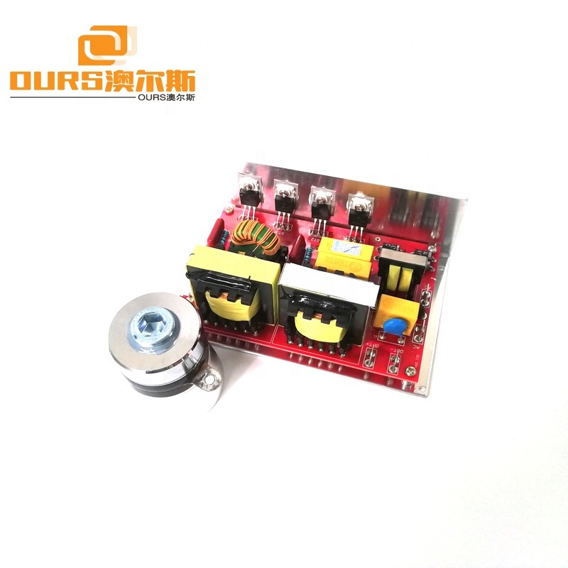 60W 40KHz AC 220V Small Ultrasonic Generator Driver PCB With Piezoelectric Cleaning Transducer
