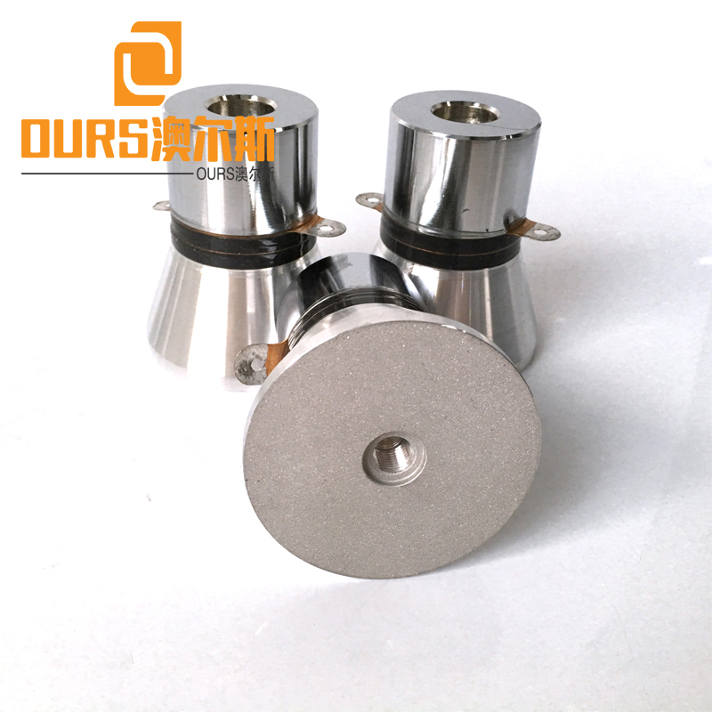 25khz 100W PZT-4 Ultrasound Piezoelectric Vibration Transducer For Industrial Cleaning Machine