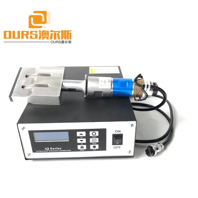15KHz-20KHz Disposable Non Woven Medical Face Masks Machine Parts Ultrasonic Welding Generator And Transducer Horn