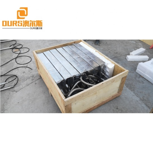316 Stainless Steel Cleaning Ultrasonic Transducer Plate And 28K 2400W Digital Ultrasonic Generator For Industrial Die Cleaning
