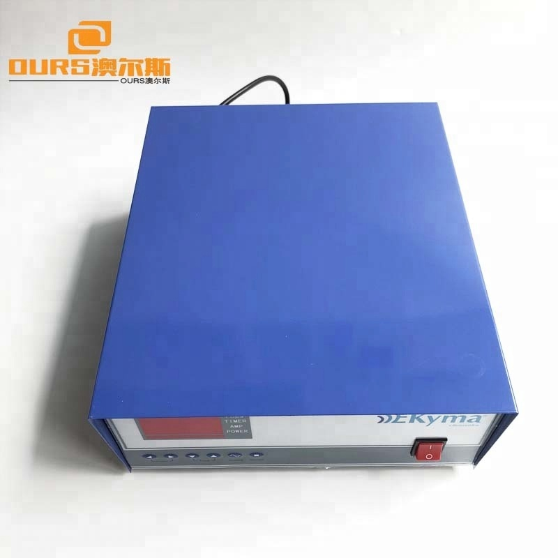 1200w 135khz  high frequency ultrasonic cleaning generator  with high power switching transducer and PLC control