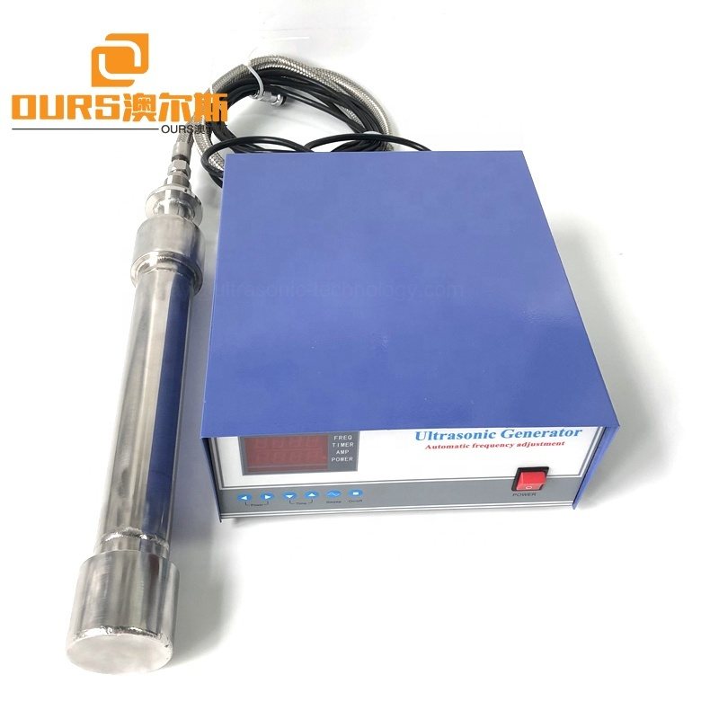316 Stainless Steel Material Submersible Ultrasonic Tube Transducer For Ultrasonic Pressure Cleaning 27K Piezoelectric Reactor