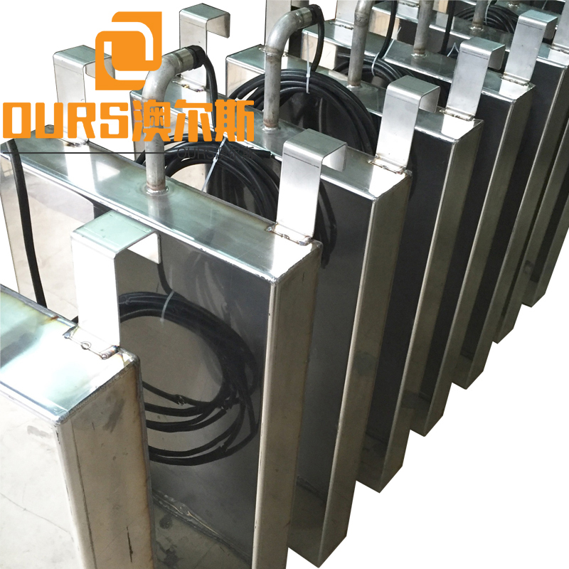 1800W 40khz/28khz Stainless Steel Submersible Type Ultrasonic Transducers Pack For Industrial  Parts Cleaning