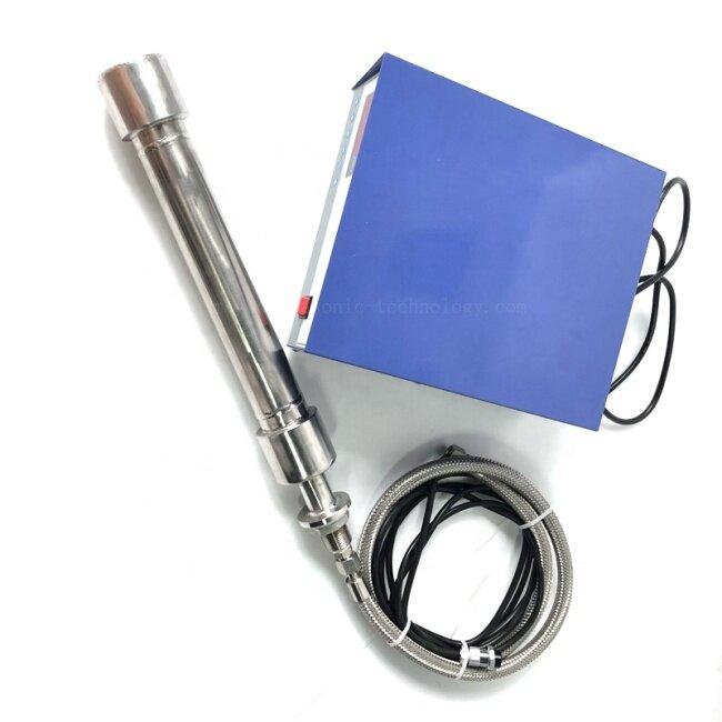 Diameter (mm):50-55 Tubular Ultrasonic Submersible Reactor 1000W Powerful Round Tube Mixer Ultrasonic Piezo Transducer Stick