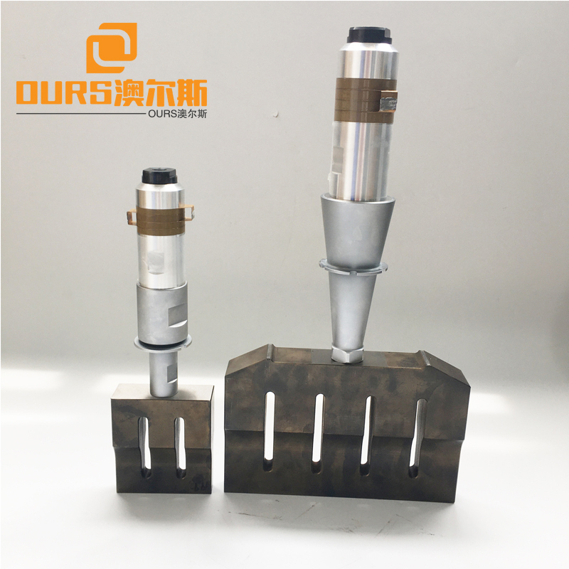 High Efficient 15KHZ 2600W ultrasonic plastic welding transducer with booster
