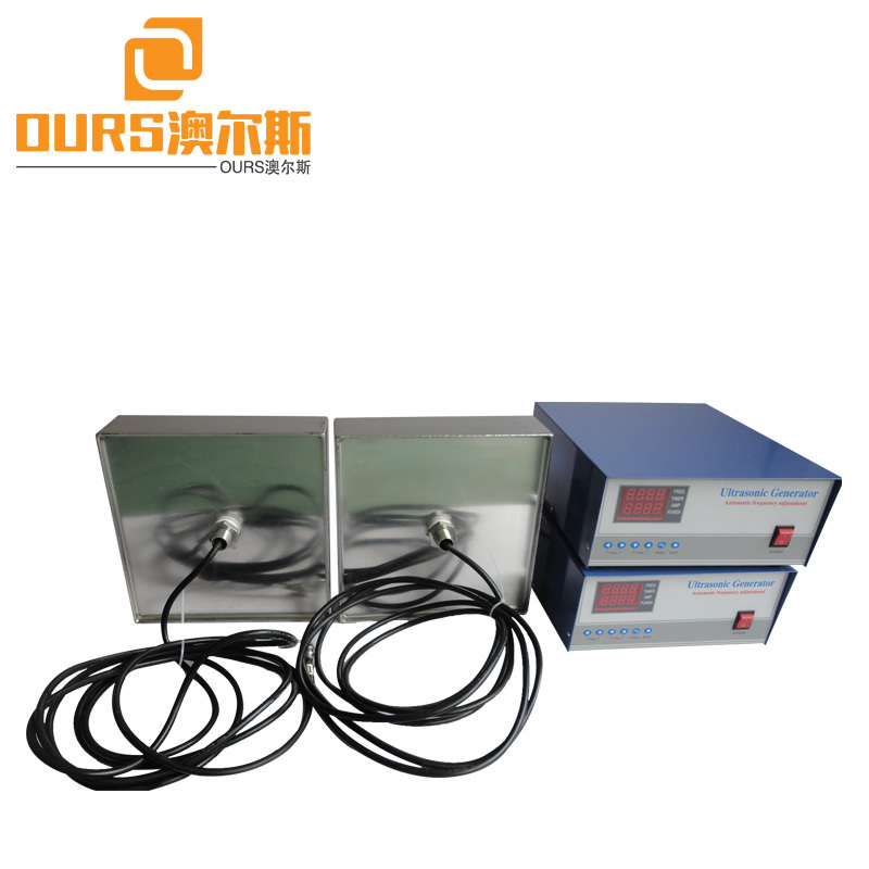 Flexible Cable 1000W High Frequency Submersible Ultrasonic Vibration Transducer used to clean parts