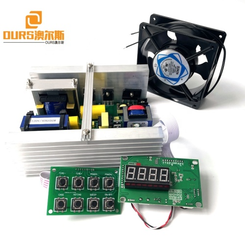 28K Or 40K Ultrasonic Cleaning Generator Kit With Power/Time/Heat Display Board For  Hardware Machinery Parts Cleaner