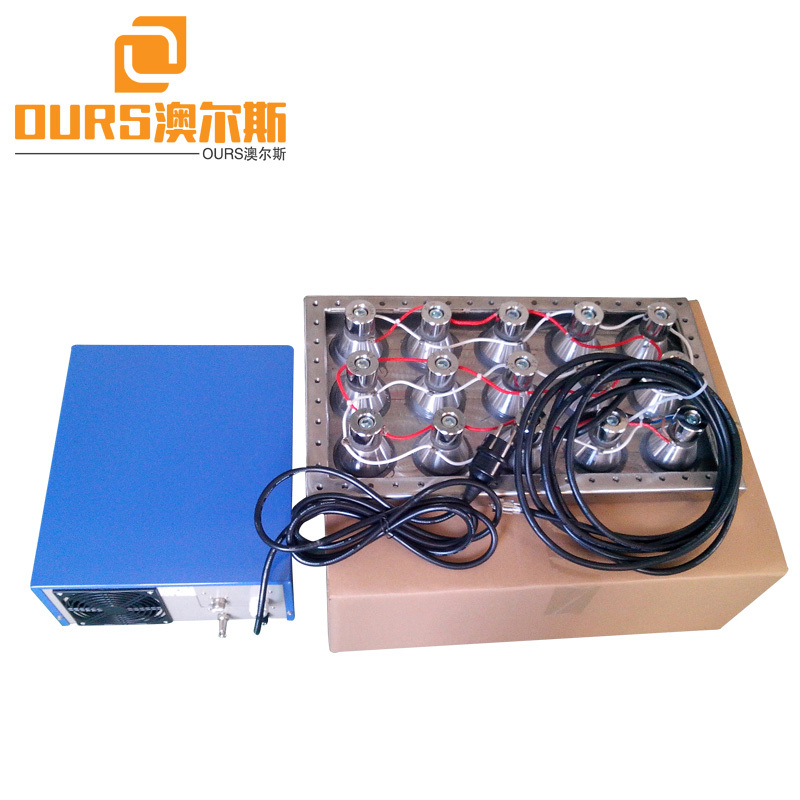 20KHZ/28KHZ 7000W SS316L Bottom Type Submersible Ultrasonic Transducer For Cleaning Oil Dirt Parts