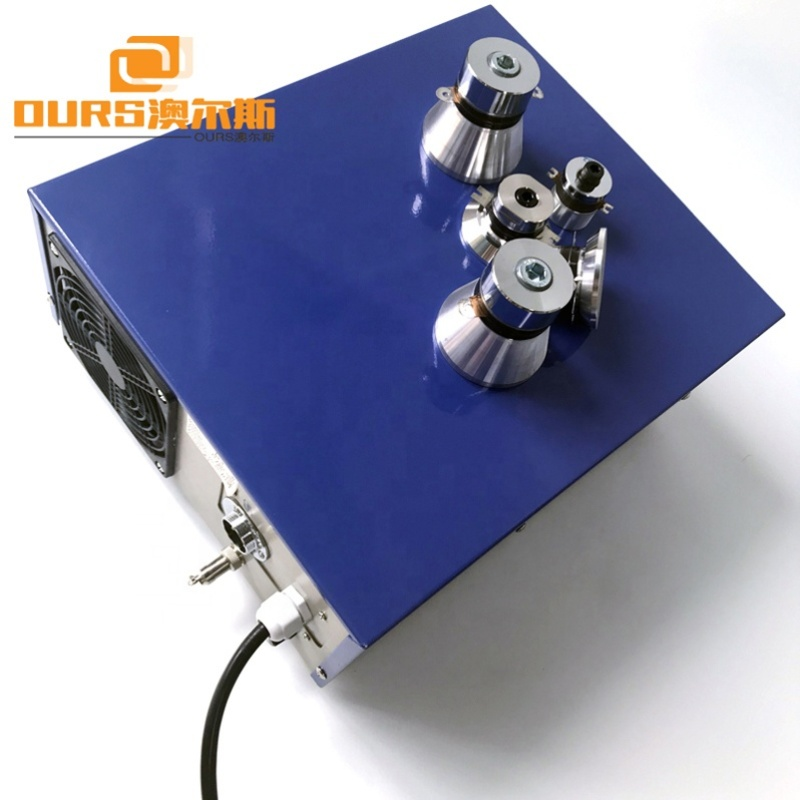 25KKz/28KHz/40KHz Ultrasonic Generator For Cleaning Tank With CE Rohs PLC Port 220V 110V Power Frequency Adjustable