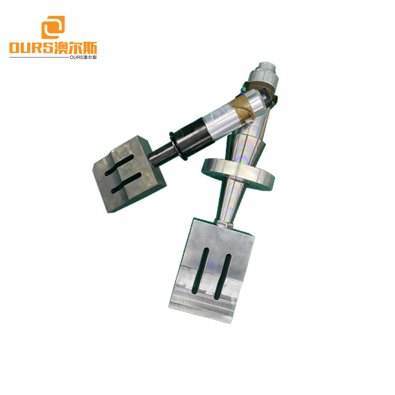 15khz/2000Watt ultrasonic welding transducer with booster  horn 110*25MM for Spunbond nonwovens N95 Masking welding